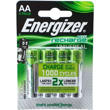 Energizer AA 1300mAh 1.2V NiMH Rechargeable Batteries